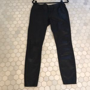 Buffalo David Bitton coated mid rise Skinny jeans